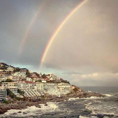 The double rainbow at Bantry Bay The Journey Book, Rainbow Warrior, Tomorrow Is Another Day, Cape Town South Africa, Tourist Spots, My Land, Continents, Paris Skyline, Coastal