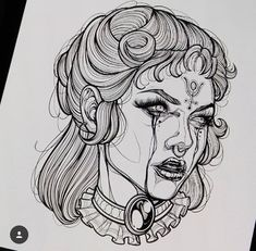 Ideas Drawing Faces Women Sketches Portraits is part of Semicolon tattoos Ideas Anchor - Semicolon tattoos Ideas Anchor Tattoo Sketches, Drawing Sketches, Tattoo Drawings, Drawing Ideas, Drawing Drawing, Medusa Drawing, Drawing Hair, Gesture Drawing, Dress Sketches