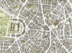 Milano pianta tridimensionale centro città