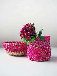 DIY: coiled raffia basket
