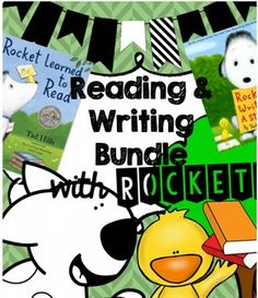 """This comprehension and writing bundle evolves from the beloved children's books written by Tad Hills; """"How Rocket Learned to Read"""" and """"Rocket Writes a Story."""" Students practice reading and writing skills while fulfilling standards by way of Rocket's adventures!"""