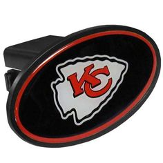 Kansas City Chiefs Mega Oval Fixed 2 Hitch Cover