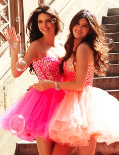Kendall and Kylie Jenner- Sherri Hill