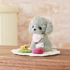 DIY handmade Japanese Felt Wool Dog Kit Package -  Shih Tzu and Toy Poodle to choose from. $20,00, via Etsy.