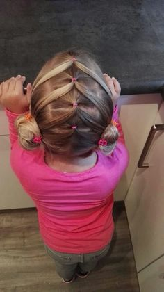 Best Picture For toddler hairstyles girl bun For Your Taste You are looking for something, and it is Toddler Hair Dos, Cute Toddler Hairstyles, Easy Little Girl Hairstyles, Girls Hairdos, Cute Little Girl Hairstyles, Cute Girls Hairstyles, Princess Hairstyles, Easy Hairstyles, Kid Hair