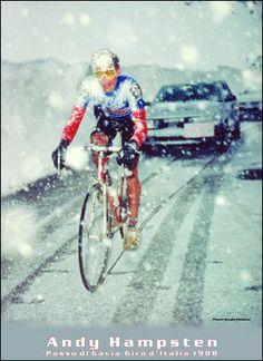 Andy Hampsten in the 1988 Giro d'Italia. In May !