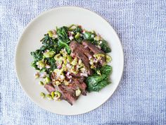 This veggie-centric take on steak will please both your inner carnivore and herbivore. Get the recipe: Spiced Skirt Steaks with Green Olive Sauce   - Delish.com