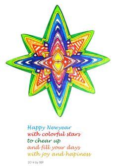 met viltstift gekleurd colored with markers by Fa