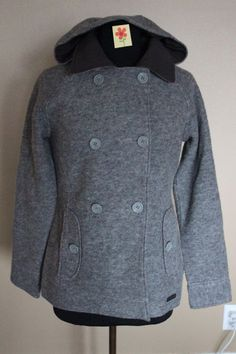 Exofficio Women's Medelton Pea Coat Slate Heather Grey Sz Small $170 - NWT #Exofficio #Peacoat