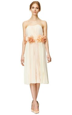 Spaguetti Strap Pleated Dress by J. Mendel Now Available on Moda Operandi