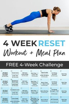 This 4 Week Home Workout Plan is for anyone looking to build lean muscle at home, increase daily exercise, and lose weight! Create a consistent fitness routine at home with 4 weeks of daily guided workout videos! Grab a workout partner, spouse, friend, co-worker and commit to getting fitter and stronger at home with this Four Week Workout Plan! 14 Day Workouts, 4 Week Workout Plan, Shred Workout, Weekly Workout Plans, Workout Plan For Beginners, At Home Workout Plan, Workout Partner, Body Workouts, Postpartum Workout Plan
