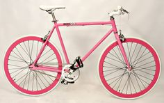56cm PINK FIXIE-SINGLESPEED-TRACK BIKE-BICYCLE-WHEELS-Complete BUGLiONE | eBay