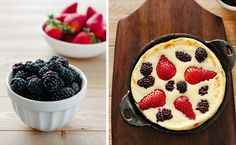 Make your weekend a little bit more special with these delicious and totally easy pancakes. Dutch Baby Pancake, Pancake Bites, Pancakes Easy, What's For Breakfast, Mixed Berries, Baked Goods, Nom Nom, Sweet Tooth, Brunch