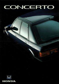 Honda Concerto Netherlands Brochure 1990