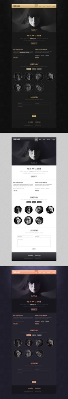 Free PSD Template from www.alltemplateneeds.com on Behance
