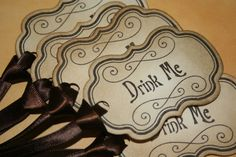 Wedding Drink Me/Eat Me Tags or Labels Alice in by anistadesigns, $14.00