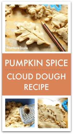Pumpkin spice cloud dough recipe for autumn sensory play - NurtureStore
