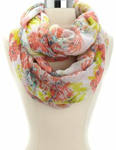 Floral Print Infinity Scarf: Charlotte Russe Dance Fashion, Girl Fashion, Girls Night Out Outfits, Girls Without, How To Wear Scarves, Scarf Styles, Passion For Fashion, Dress To Impress, Charlotte Russe