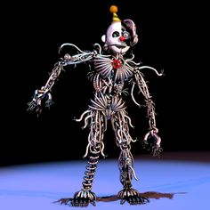 "xdottx: "" So I was looking at this picture of ennard and something came to me. Most people I've seen think ennard is another animatronic, I don't think he's another, I think he's EVERY animatronic. If you look at his body you can see multicolored..."