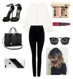 """""""see u tomorrow (read description)"""" by may-boo ❤ liked on Polyvore featuring MANGO, Citizens of Humanity, Gucci, Rimmel and Prada"""