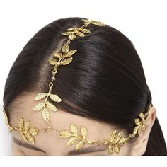 AURA Headpieces Womens Hair Accessories AURA Headpieces Aphrodite Gold... (1.305.200 COP) ❤ liked on Polyvore featuring accessories, hair accessories, hair, jewelry, hats, hair chain accessories and beaded hair accessories