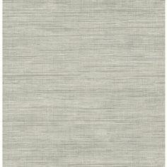 Brewster Wallcovering Brewster Essentials Grey Non-Woven Grasscloth Wa