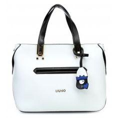 wardow.com - #bag #trend #blackandwhite #Liujo Samo Handtasche weiß