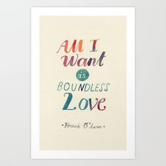 All I Want Is Boundless Love by Mei Lee Inspiration Quote