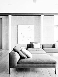 #interior design #living rooms #minimalism | I N T E R I O R S  | Sofas, Interior Design Living Room and Grey