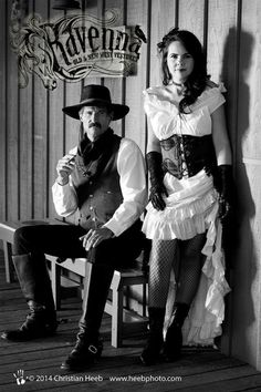 Film Quality Costume Design, Video Productions and Digital Art Saloon Girl Costumes, Old West Saloon, Vintage Western Wear, Old Time Photos, Cowboy Action Shooting, Saloon Girls, New West, Victorian Steampunk, Couple Posing
