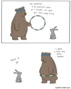 Bear Hula Hooping. Hehe.