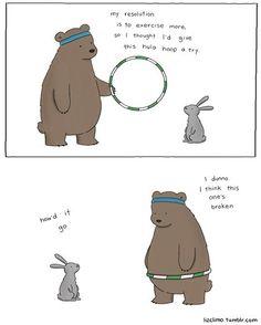 Bear Hula Hooping. Hehe.