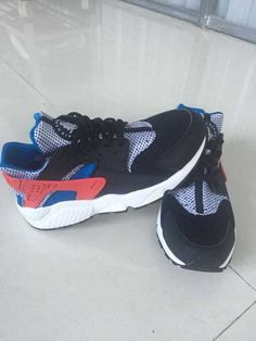 outlet store 69f7e 23d41 Nike Air Huarache Mens Running Shoes Black White Red Black
