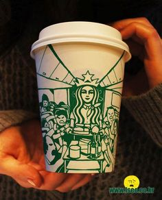 Starbucks Art – Quand l'artiste Soo Min Kim détourne les gobelets Starbucks