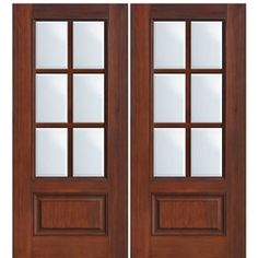 1 Panel 6 Lite SDL-2 | Simulated Divided Lite Fiberglass Doors | Exterior Doors
