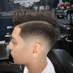 ide Part Faded with Curly Top