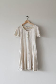 Cream Coloured Dress by fieldvintage on Etsy