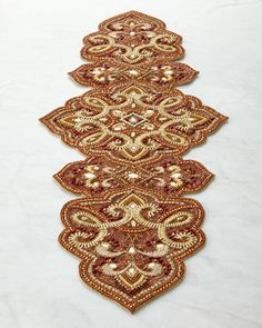 Another Beaded Table Runner ..Neiman Marcus.   Joyeux Noel   Pinterest    Runners, Table Runners And Neiman Marcus