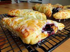Lemon Blueberry Turnovers Blueberry Turnovers, Blueberry Jam, Kitchen Recipes, Cooking Recipes, Just Pies, Tart Filling, Recipe Generator, English Kitchens, Dessert Spoons