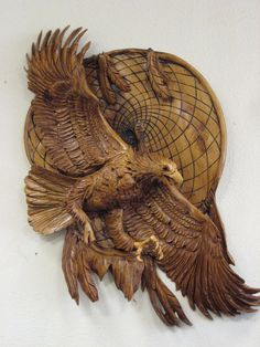 scultureChainsaw Carving Arts Animal Sculptures Eagle by J. Chester Armstrong |Pinned from PinTo for iPad|