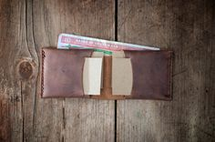 Minimal handmade leather wallet  fairly made in Guatemala