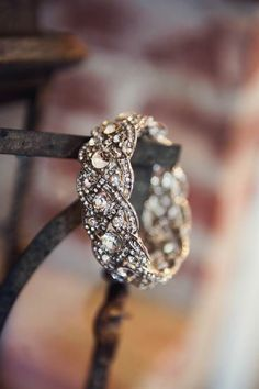 This in gold with a simple engagement ring. Nice pair