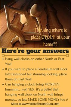 Here're few awesome #vastu #tips to place wall #clocks in your #home... More…
