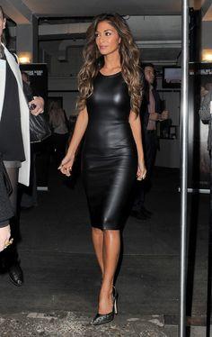 Nicole Scherzinger - Missguided Leather Pencil Dress