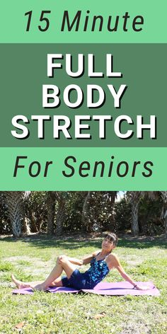 Stretching Exercises For Seniors, Yoga For Seniors, Body Stretches, Fitness Workout For Women, Yoga Fitness, Fitness Tips, Health Fitness, Full Body Stretch, Lose Weight