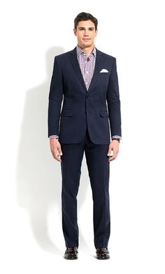 3a4a332720d169 Navy Slim Fit Chino Suit | Combatant Gentlemen Fitted Suit, Tailored Suits, Slim  Fit