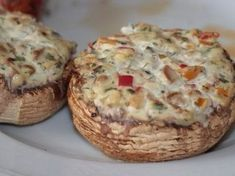 Grilled side dishes - mushrooms with cream cheese - grill-guru.de - Elaine - Grilled side dishes – mushrooms with cream cheese – grill-guru. Meat Appetizers, Appetizer Recipes, Simple Appetizers, Party Appetizers, Recipes Dinner, Breakfast Recipes, Grilled Side Dishes, Grilling Sides, Grill Party