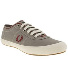 promo code 25dc9 90eaf Men s Grey Fred Perry Woodford Twill Trainers   schuh