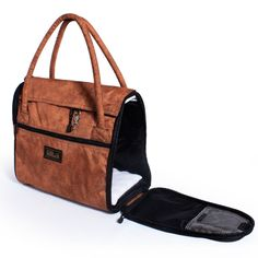 """Incognito Pet Carrier now in Cinnamon!  The design begs the question; """"Is it for pets or people?""""  Sturdi says, """"You decide."""""""