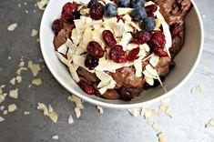 Sund chiagrød Chocolate Chia Pudding, 20 Min, Vegan Recipes, Vegan Food, Acai Bowl, Cereal, Oatmeal, Protein, Brunch